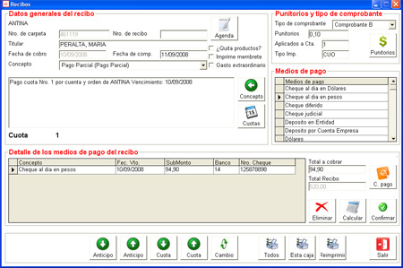 Software de cobranzas